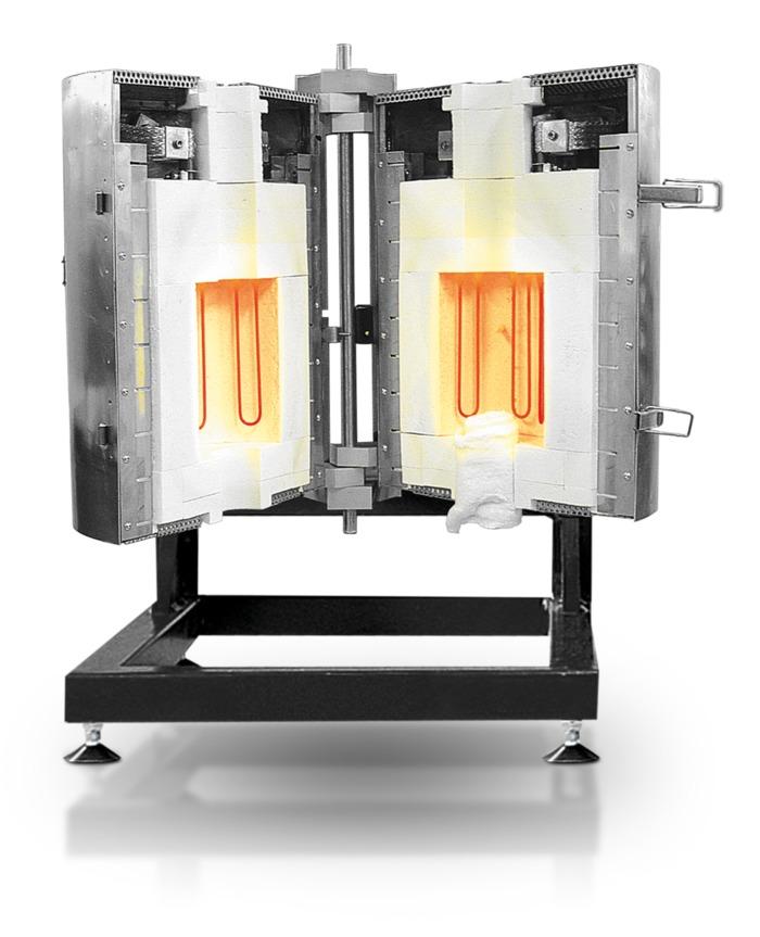 Forno Tubular Bipartido de Alta Temperatura Carbolite-Gero HTRV-A