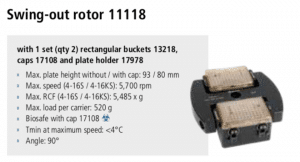 Centrífugas Sigma 4-16S, 4-16KS e 4-16KHS 11