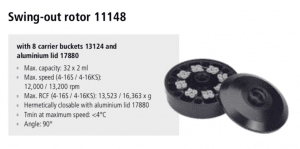 Centrífugas Sigma 4-16S, 4-16KS e 4-16KHS 9