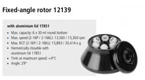 Centrífuga Sigma 2-16P, 2-16 KL e 2-16 KHL 4