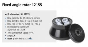 Centrífuga Sigma 3-16L e 3-16 KL rotor 12155 imagem 11