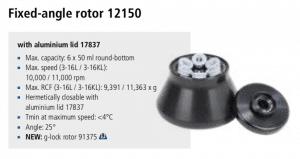 Centrífuga Sigma 3-16L e 3-16 KL rotor 12150 imagem 13