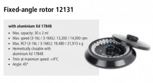 Centrífuga Sigma 3-16L e 3-16 KL rotor 12131 imagem 14