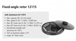 Centrífuga Sigma 3-16L e 3-16 KL rotor 12115 imagem 15