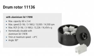 Centrífuga Sigma 3-16L e 3-16 KL rotor 11136 imagem 19