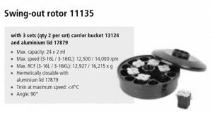 Centrífuga Sigma 3-16L e 3-16 KL rotor 11135 imagem 20
