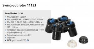 Centrífuga Sigma 3-16L e 3-16 KL rotor 11133 imagem 21