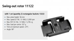Centrífuga Sigma 3-16L e 3-16 KL rotor 11122 imagem 22