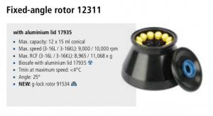 Centrífuga Sigma 3-16L e 3-16 KL rotor 12311 imagem 4