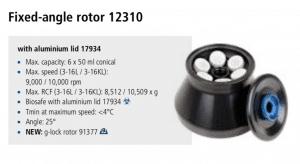 Centrífuga Sigma 3-16L e 3-16 KL rotor 12310 imagem 5