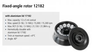 Centrífuga Sigma 3-16L e 3-16 KL rotor 12182 imagem 6