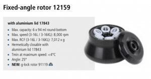 Centrífuga Sigma 3-16L e 3-16 KL rotor 12159 imagem 7