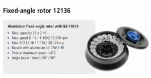 Microcentrífuga Sigma 1-16 e 1-16K rotor 12136 imagem 3