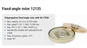 Microcentrífuga Sigma 1-16 e 1-16K rotor 12135 imagem 4