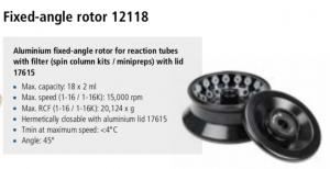 Microcentrífuga Sigma 1-16 e 1-16K rotor 12118 imagem 6