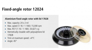 Microcentrífuga Sigma 1-16 e 1-16K rotor 12024 imagem 7