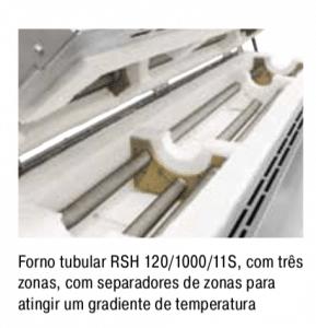 Forno tubular bipartido Nabertherm até 1.300°C 2