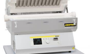 Forno tubular bipartido Nabertherm até 1.300°C