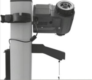Imagem 10 – Trava de liberação do mecanismo de posicionamento da vidraria (1)