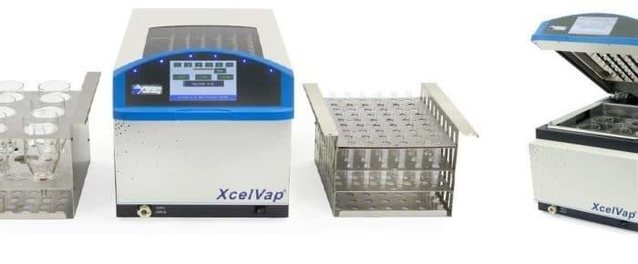 Evaporação e concentração de solventes através do XcelVap 5