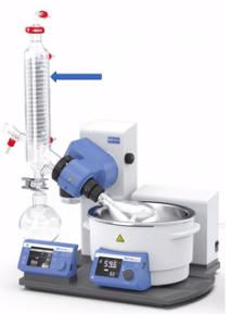 Imagem 3 – Limite recomendado para condensação de vapor em rotaevaporador IKA