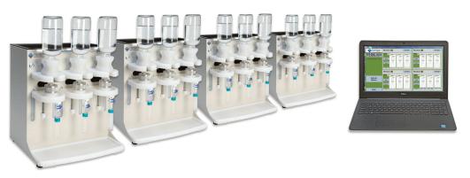 Imagem 2: Sistema de extração de disco automatizado de três posições Biotage Horizon 5000