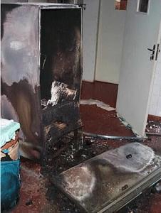 Acidente com freezer doméstico na UFMG