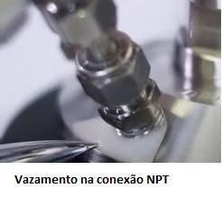 Teste de vazamento em reatores de alta pressão
